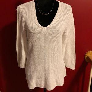 Talbots cotton V Neck sweater